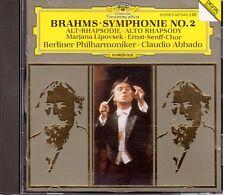 Brahms: Sinfonia No 2, Rapsodia Per Contralto / Claudio Abbado, Berliner - CD