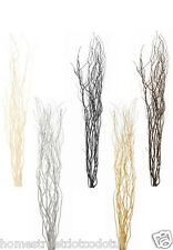 Contorted Twisted Willow Twigs Bunch for Floor Standing Vases Gold