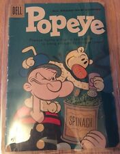 Popeye Dell Comics Vol 1 #57 Feb 1961 Tv Series Cartoon Character silver age