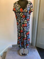 Laura Ashley Multicoloured Floral Print Dress UK Size 16 Read Description