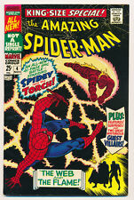MARVEL  ANNUAL AMAZING SPIDER-MAN #4 1967 NM  GREAT COLOR FREE SHIPPING