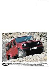 """Land Rover Defender 110 County Station Wagon TD5 press photo """"Brochure connexes"""""""