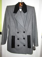 NWT Givenchy Couture FR 46 US 14 Gray Flannel Wool Skirt Suit Coat Jacket France