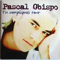 """PASCAL OBISPO - CD SINGLE """"TU COMPLIQUES TOUT"""" - (ÉCRITURE VIOLETTE°"""