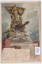 2511, Stettin Monumental - Brunnen tolles Signiertes Litho gelaufen 1901 !