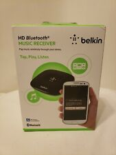NEW Belkin HD Bluetooth Music Receiver FACTORY SEALED FREE SHIP Smartphone App