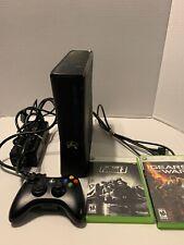 Microsoft Xbox 360 Slim 1439 Black Console No Hard Drive Bundle 1 Controller
