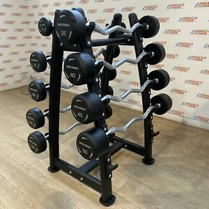 Fixed Rubber Barbell Set with EZ Grip (10kg - 50kg) by Blitz Fitness