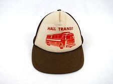 """Vintage """"Hall Transit"""" Charter Bus Transportation Brown Trucker Adjustable Hat"""