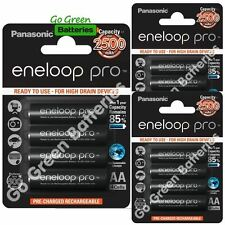 12 x Panasonic Eneloop PRO AA 2500 mAh Rechargeable Batteries Ready To Use HR06