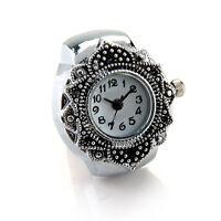 Tibetsilber 22mm Ringuhr Finger Uhr Fingeruhr Uhrenring TOP GY