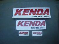 "NEW AUTHENTIC KENDA TIRES STICKER sm 5/"" VINYL DECAL RUBBER TUBES DOWNHILL BMX MT"