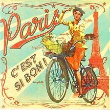 4x partito unico di Carta Tovaglioli per Decoupage Decopatch Retrò Stile Hello Paris