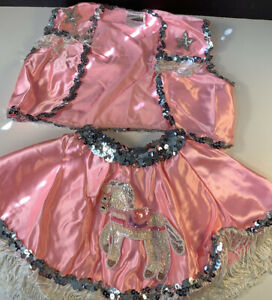 A Wish Come True Cowgirl Pink Western Dance Costume Size 2T