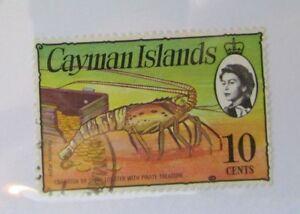 1976 Cayman Islands SC #338b QEII Crawfish Spiny Lobster used stamp
