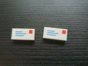 2 Genuine Lego Envelope - New