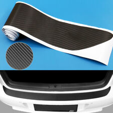 Car Auto 3D Carbon Fiber Plate Sticker Sill Scuff Cover Trunk Protection Strip