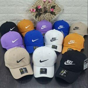 LATEST Nike Mens Baseball Caps Swoosh Metal Logo Cap Sports Golf Adjustable Hat