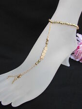 New Women Anklet Leg / Foot Chains Gold Metal Fashion Body Jewelry Multi Hearts