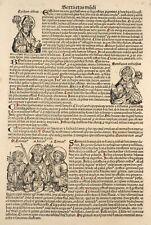 Schedel Nuremberg Blatt 156 Chronicles1493 Egidius Bonifacius Linea Imperatorum