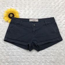 Hollister Womens Casual Mini Short Shorts Size 1 Stretch Dark Blue hr3206