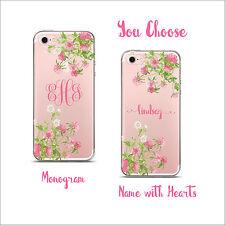 Clear Transparent Cell Phone case Monogram  iPhone X/6/7/8 & Plus