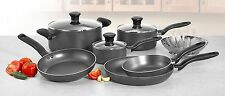 T-FAL Initiatives 10-Piece Cookware Set Nonstick Inside and Out, Pots and Pans