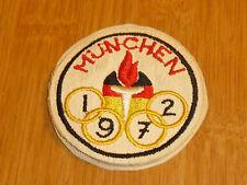 ancien ecusson jeux olympique munchen 1972