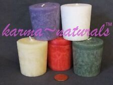 UnScented ORGANIC PALM WAX VOTIVE Candles Aloha Bay Kosher Non GMO -Color Choice