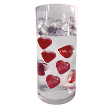 Red Glass Hearts- Vase Decoration & Table Scatter