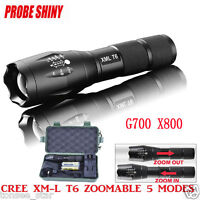 X800 G700 ShadowHawk LED Zoom Grade Tactical 5000LM Taschenlampe Torch+2Batterie