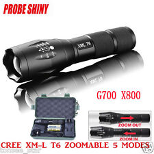 G700 ShadowHawk LED Zoom Grade Tactical 5000LM Taschenlampe Torch+2Batterie F