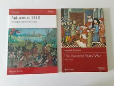 The Hundred Years War/ Agincourt Osprey Lot x2/ Sc Good