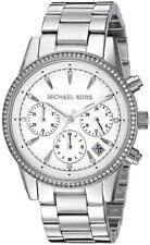Michael Kors MK6428 Ladies Ritz Silver Plated Chronograph Watch