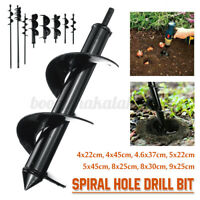 Pro Spiral Drill Bit Post Hole Digger Power Garden Auger Earth Planter Tools Set