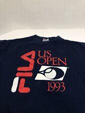 Vintage tennis 1993 Fila U.s Open T-Shirt Xl Red White Blue Retro