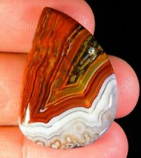 30 CT TOP 100% NATURAL RED MEXICO CRAZY LACE AGATE FANCY CABOCHON GEMSTONE A447