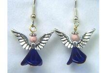 Angel Earrings with Rhodochrosite