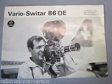 SWISS INSTRUCTION MANUAL for BOLEX VARIO-SWITAR 86MM OE LENS 16MM MOVIE CAMERA