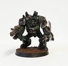 WARHAMMER 40K ARMY CHAOS SPACE MARINE OBLITERATOR  WELL  PAINTED AND BASED