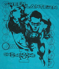 NWT GREEN LANTERN AQUA BLUE T-SHIRT DC Comics Chosen One Sheer Men's XXL $79