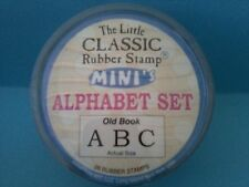 OLD BOOK - HAMPTON ART LITTLE CLASSIC ALPHABET RUBBER STAMP SET