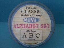 OLD BOOK - HAMPTON ART LITTLE CLASSIC ALPHABET RUBBER STAMP SET