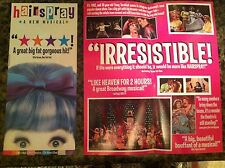 Hairspray ad/flyer Neil Simon Theatre Broadway NYC closed 2002 John Waters
