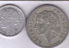 2 OLDER COINS from FRANCE - 1 & 5 FRANCS (BOTH DATING 1945)
