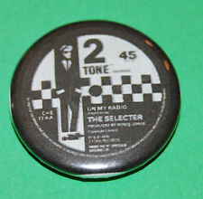 Two Tone Record Label The Selector Button Badge 25mm
