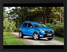 DACIA SANDERO STEPWAY NEW A3 FRAMED PHOTOGRAPHIC PRINT POSTER