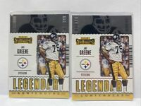 Joe Greene Lot 2 Legendary Contenders Panini 2020 LC-JGR Steelers HOF