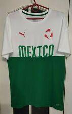 Puma Mexico White Green Sport Training Camiseta Shirt Jersey Trikot Size L