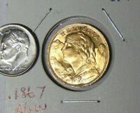 1935-LB Swiss Helvetia Gold 20 Franc Coin Uncirculated
